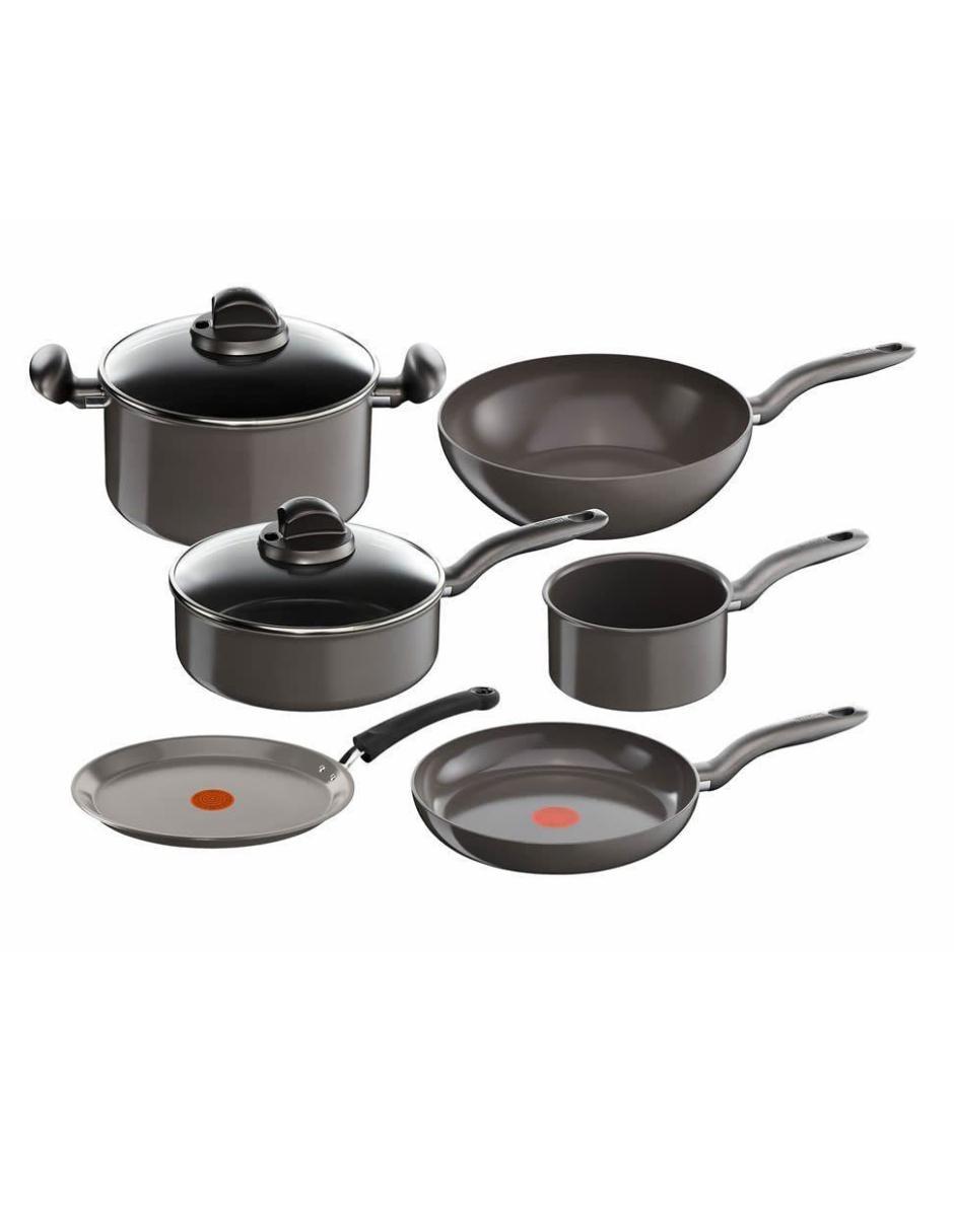 T fal bater a de cocina 8 piezas ceramic inducci n - Baterias de cocina para induccion ...